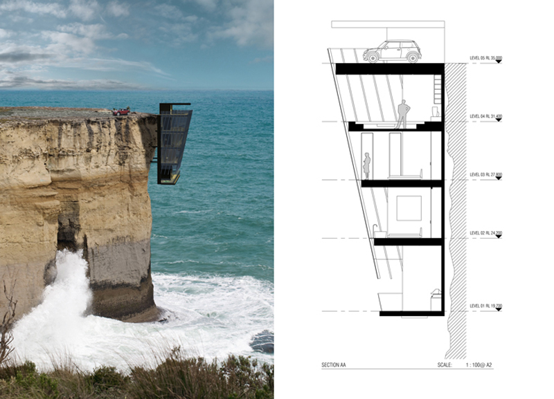 Architecture, Cliff Homes, Design, Engineering