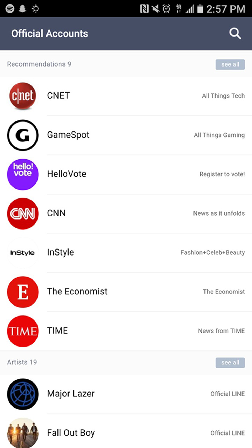 A List Of Brands Who Created Social Interaction Apps Such As CNET, HelloVote, TIME, Major Lazer