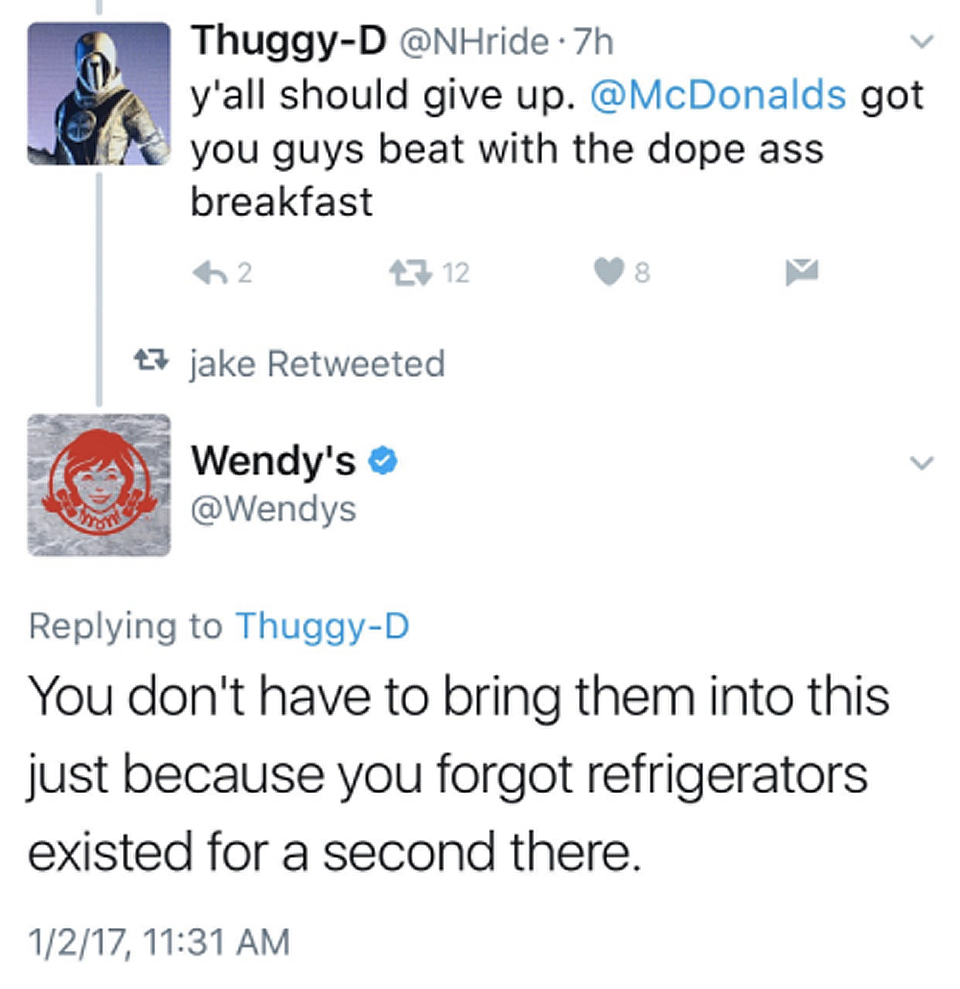 Wendy's wins with final retort on Twitter feud with a consumer regarding freshness of meat