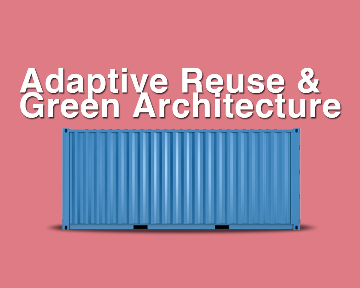 Title Image Blue Shipping Container on Pink Background