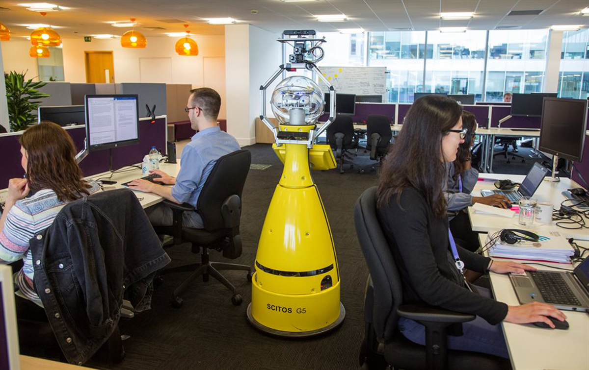 AI Robot Betty Working As An Office Trainee